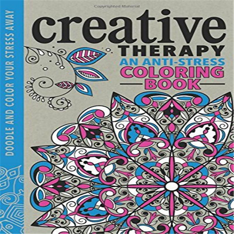 Creative Therapy An Anti Stress Coloring Book English Pencil For Adults Colouring Books To Print Printable