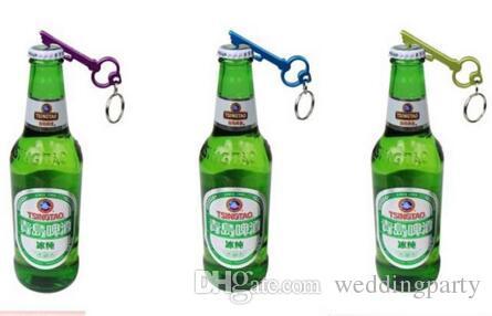 free customized engraved bottle opener keychains,key shaped aluminum beer wine can opener keychain,