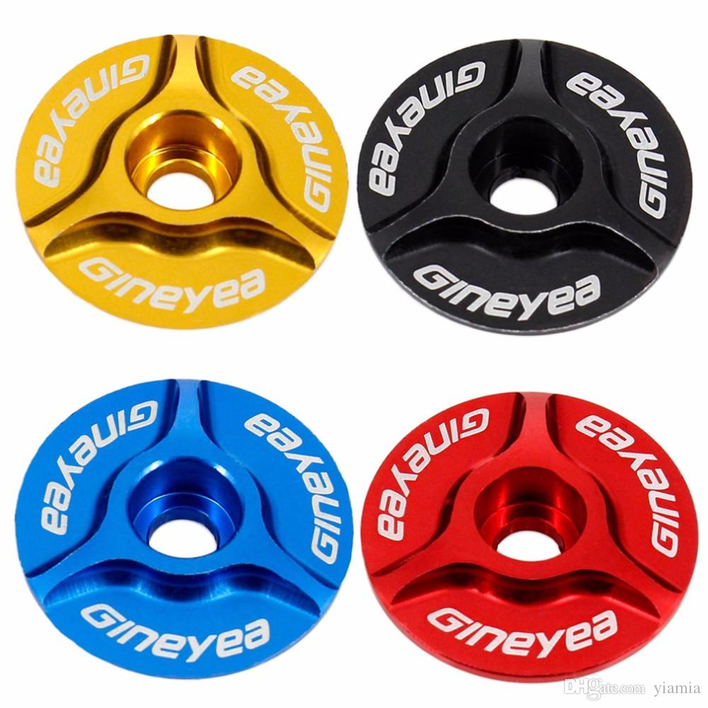 """Aluminum Threadless 1""""/1-1/8"""" Road MTB Bike Stem Accessories Bici Bicycle Cycling Headset Top Cap Cover"""