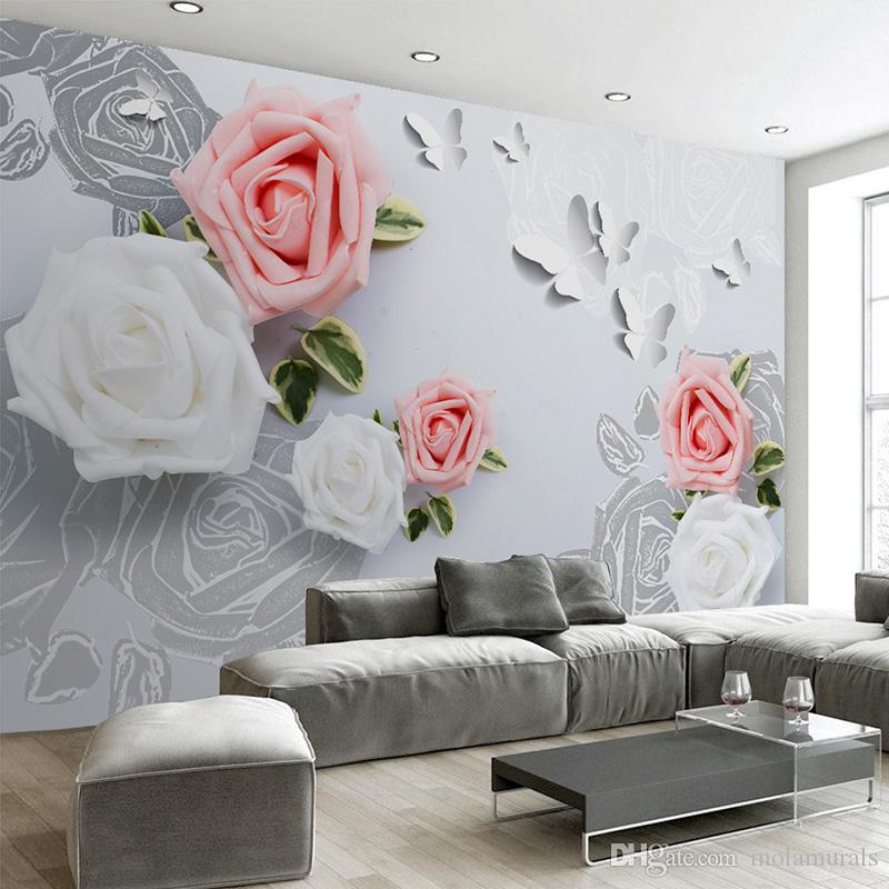 Пользовательские 3D фото обои многоцветный цветок ТВ фон большая фреска Гостиная Спальня нетканые стены фреска обои 3D