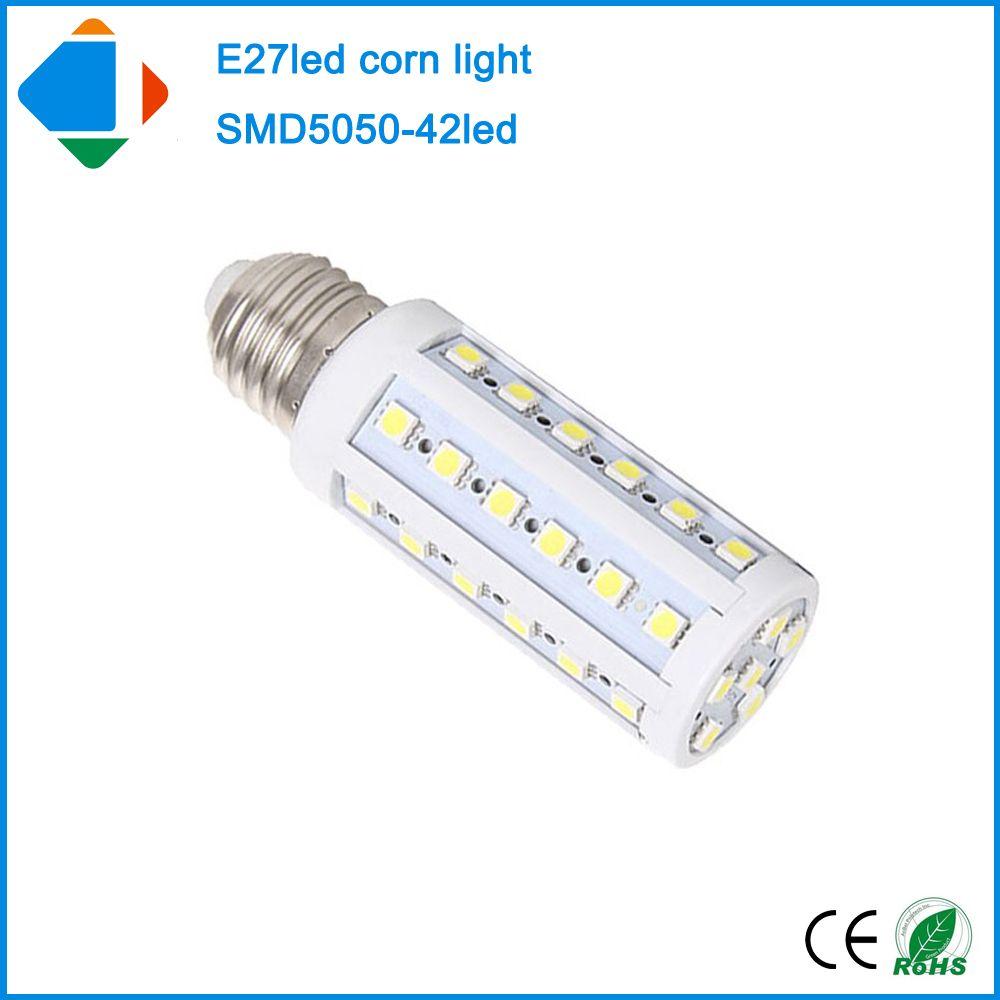 5x E27 8w Led Corn Light 42 Leds Smd 5050 Chip Warm/Nature White Led ...