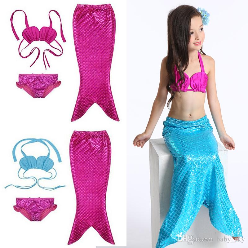 f367f018cc401 2019 Girls Swimwear Mermaid Swimsuit Kids Bikini Fashion Bathing Swim Set  Toddler Surf Suit Children Clothing Sweet From Baby_sky, $8.74 | DHgate.Com