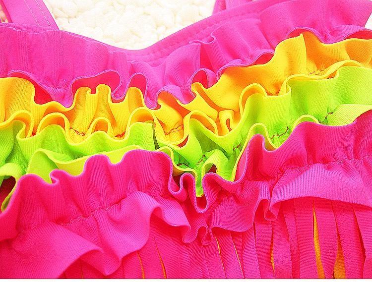 Kids Girls Bikini Swimwear Baby Girls Tassel Swimsuit Toddler Top + Pants Set 2017 Princess Bathing Tankini Beach Clothes B148