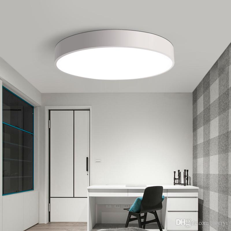 2018 modern led ceiling light black white round simple 12123 | modern led ceiling light black white round