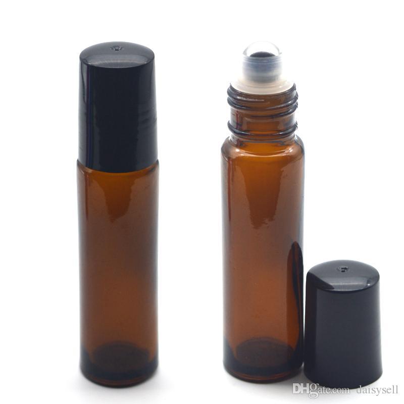 Rouleau de verre bleu cobalt cosmétique coloré rechargeable de 10 ml 1/3 oz sur une bouteille Huiles essentielles Parfums Bouteille à bille roulante