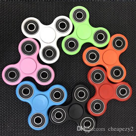 EDC Trip Spinner Fidget Desk Toy Stocking Stuffer ABS For Decompression Anxiety Finger Toys Killing Time With Retail Box Dhl Free Ship