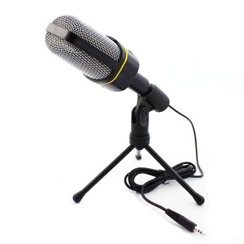 Condensador profesional Home Audio Studio Micrófono de grabación de sonido 3.5mm Jack MIC Shock Mount para Skype Desktop PC Notebook Computer