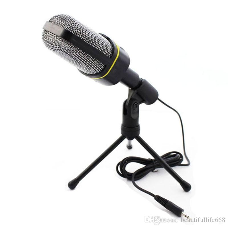 Professional Condenser Home Audio Studio Sound Recording Microphone 3 5mm Jack Mic Shock Mount For Skype Desktop Pc Notebook Computer Microphone Microphone