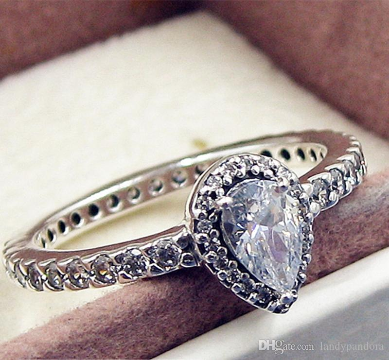 e17b2db71 2019 2017 New 100% 925 Sterling Silver European Pandora Jewelry Radiant  Teardrop Ring With Cz Fashion Charm Ring From Landypandora, $18.9 |  DHgate.Com