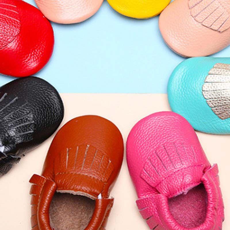 Обувь Baby First Walkers из натуральной кожи Детские мокасины с мягкой подошвой Весна Осень Малыш Дети Прекрасные туфли