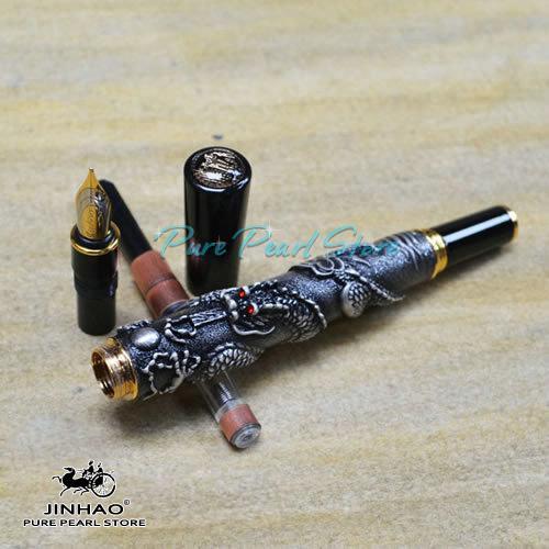 JINHAO 555 Series Cancelleria la scuola ufficio di alta qualità i la copertura del drago in rilievo Ultra stilografica di lusso + Ricariche regalo aggiuntive
