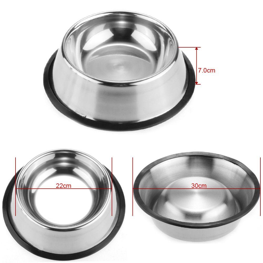 Aço Inoxidável Tigela de Cachorro Animais de Estimação Padrão de Aço Do Cão de Estimação tigelas Cachorro Gato Comida ou Bebida Tigela de Água Prato 77