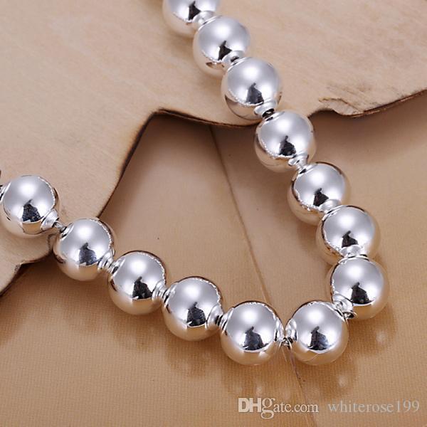 Großverkauf - niedrigster Preis Weihnachtsgeschenk 925 Sterlingsilber-Art und Weise 10mm hohle Halskette und Armband stellten yS151 ein