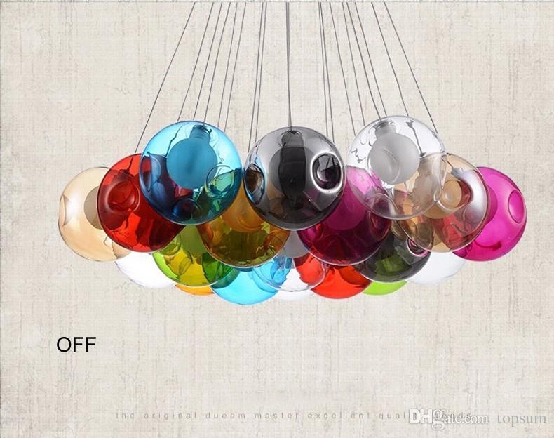 Moderne Lampen 96 : Großhandel kreatives design moderne led bunte glas hängende lampen