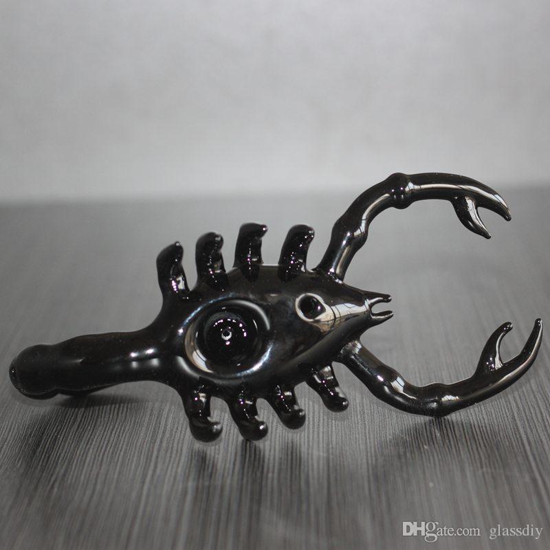 Black Scorpion Bubbler Pipes Bong Hand Pipe Animal Shape Oil Burner Bongs Hand Pipe Bubbler Bongs Tobacco Bong 100g Bubbler Smoking Pipe