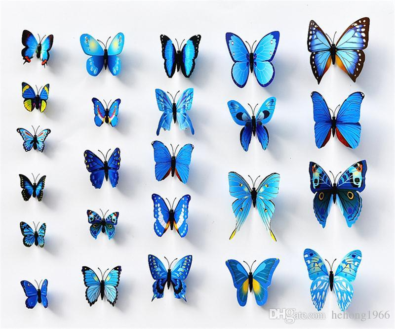 Butterfly Wall Stickers Multi Color Simulation 3D Mural Painting Three Dimensional PVC Removable Murals For Home Bedroom Deco 3ks A