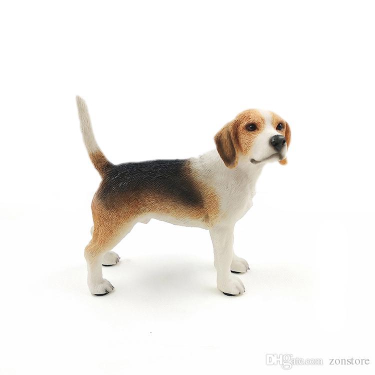 الفنون والحرف Beagle Hound Canine Pedigree لطيف جرو تمثال براون يقف staue النحت ل عشاق الكلاب
