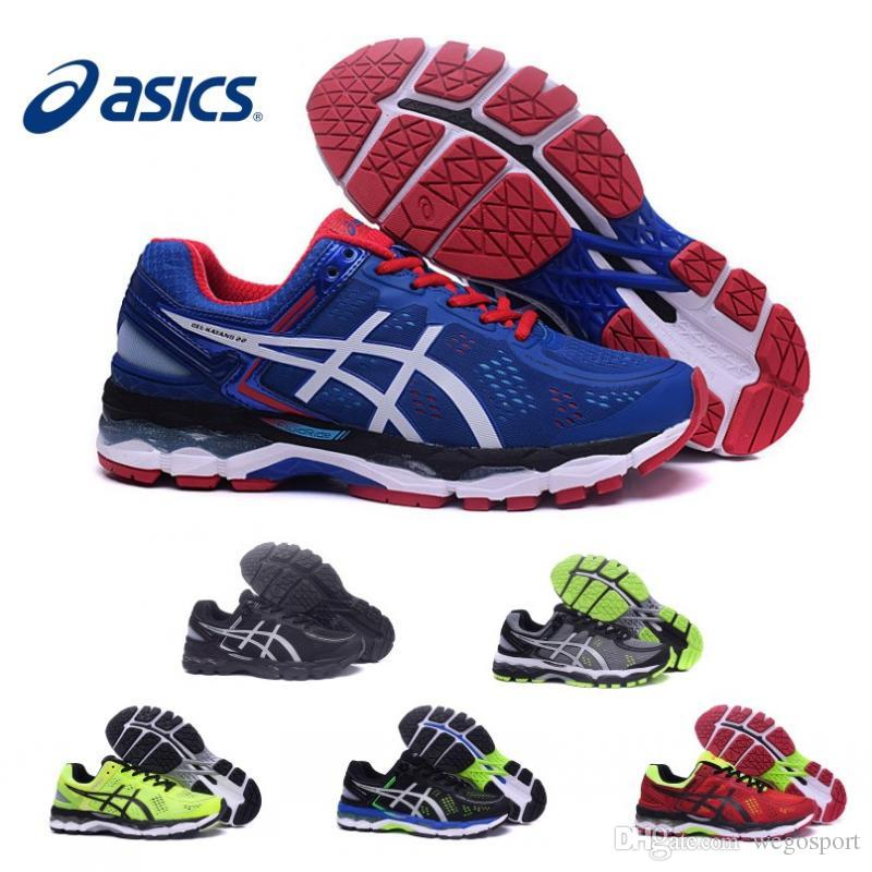 2017 Wholesale Asics Gel-Kayano 22 Cushioning Running Shoes T547N T5A1N  TJG538 Men Original Top Quality Boots Athletic Sport Sneakers 36-45 Men  Shoes ...