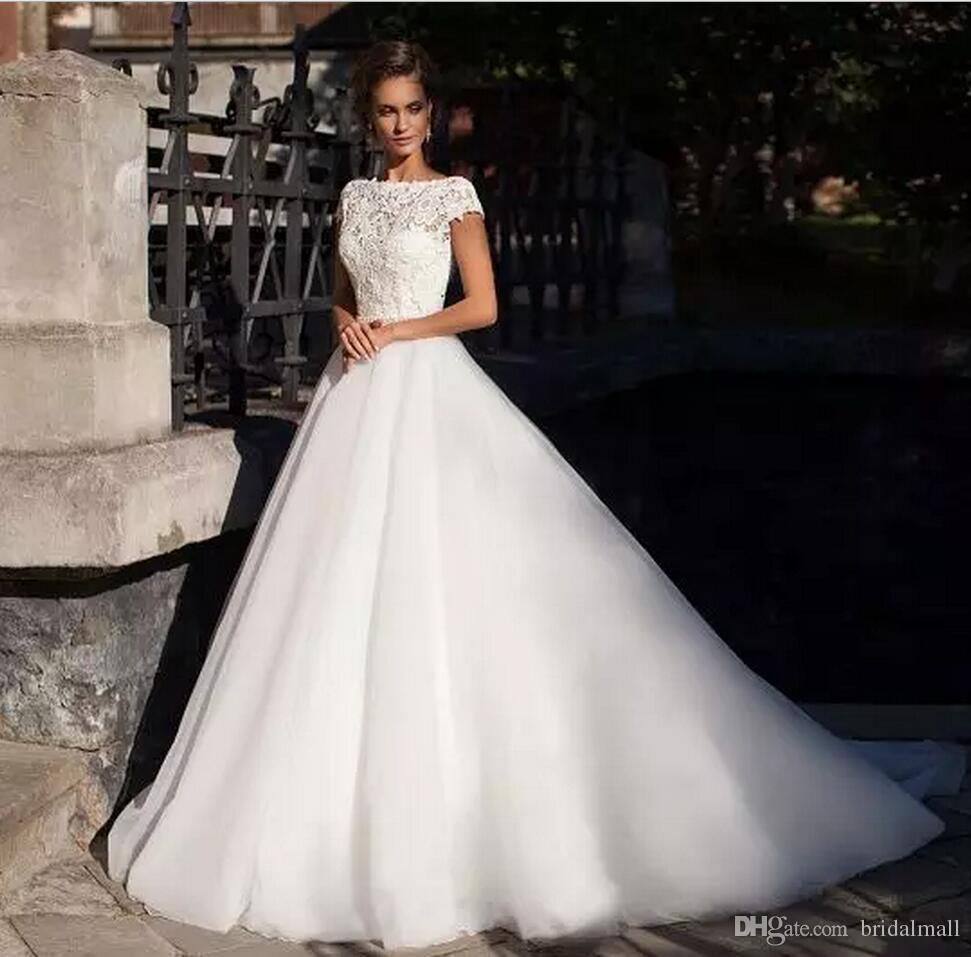 Böhmische Spitze Top Brautkleider 2020 Vintage a Linie Brautkleider Außen Backless Garten Land Hochzeit Braut Kleid Benutzerdefinierte Robe de mariée
