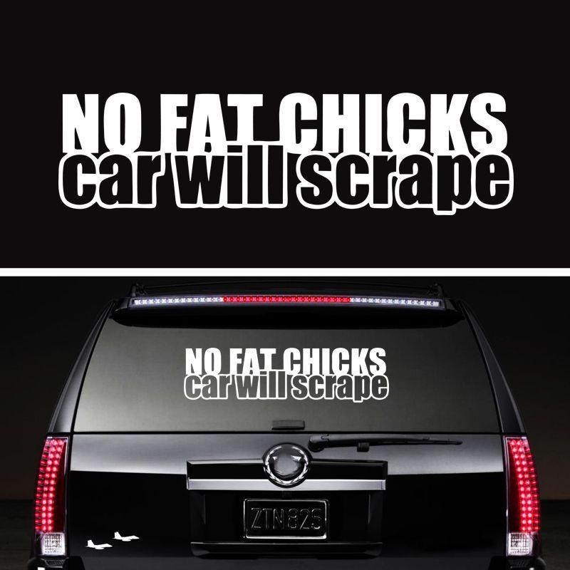 No Fat Chicks Will Scrape