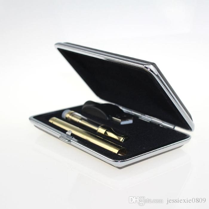 Golden glass atomizer cartridge Rectangle Gift box Kit bud touch 280mAh battery O pen Vapor Oil tank vaporizer e cigs