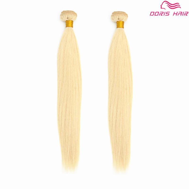 blondes Haar der Luxus 613 Haar-Einschlagbündel bündelt brasilianisches indisches Menschenhaarwebartseide gerade farbiges färbbares freies DHL