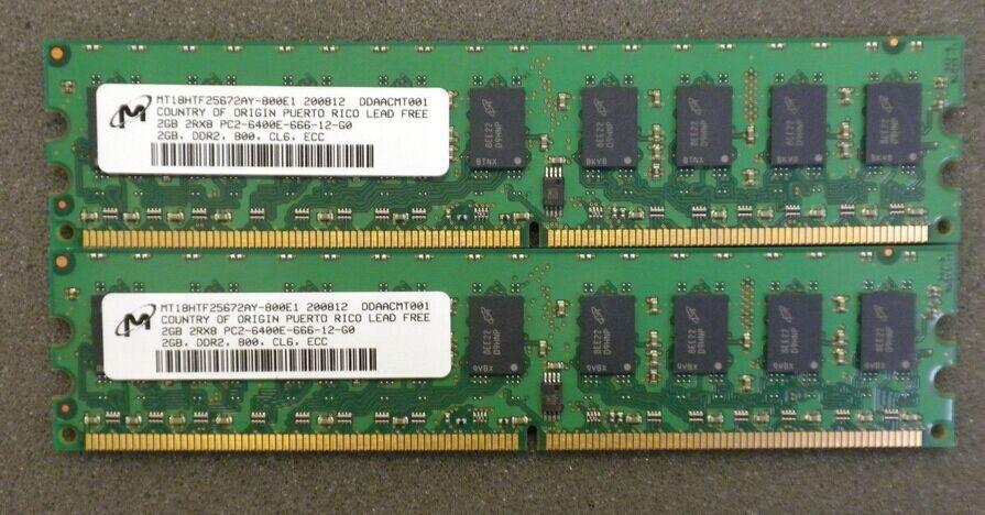 Server memory 4GB 2x 2GB DDR2 ECC 800MHz 2GB 2Rx2-6400E Workstation RAM for HP DL120G5 DL320G5 ML115G5 xw4300 xw4600 DL385G6 ML110 G3