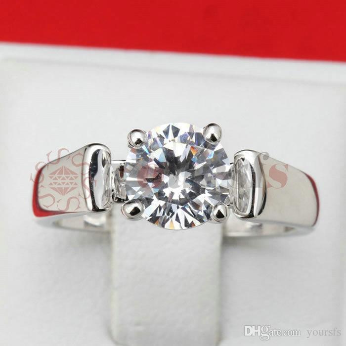 Yoursfs Gold Plating 18 K Four Claw Square Shape Cubic Zircon Ring Vrouwelijke Trouwringen voor Dames Eenvoudige Sieraden Koreaanse versie