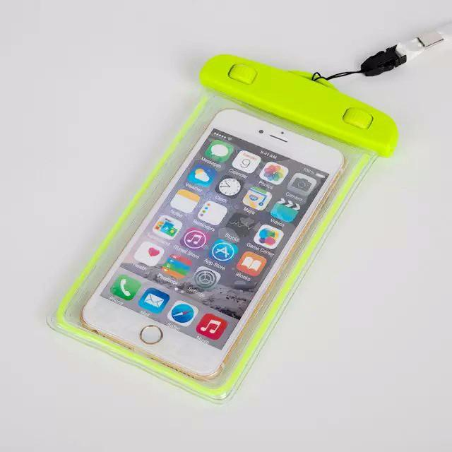 Universal Glow in dark Waterproof Pouch For iPhone7 plus For Samsung Galaxy J5 S5 Case Cover Swim Waterproof Phone Pouch Fluorescent