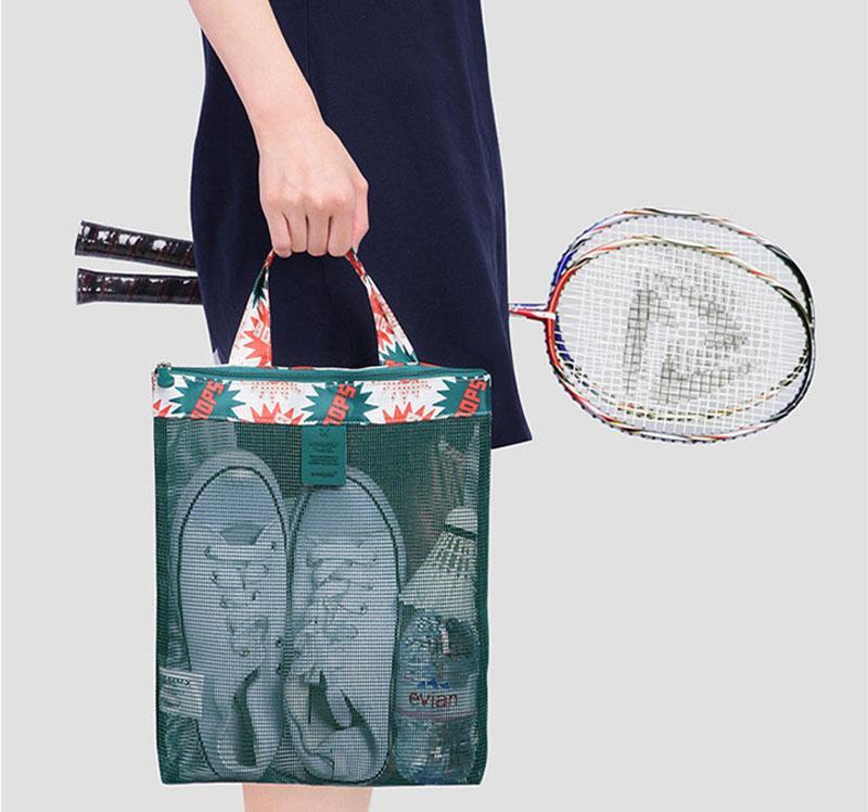 5 unids / lote 2017 Nueva Llegada de Malla Bolsa de Playa Mujeres Oxford traje de Baño Bolsa de Almacenamiento Bolsa de Hombro de Lavado es en verano