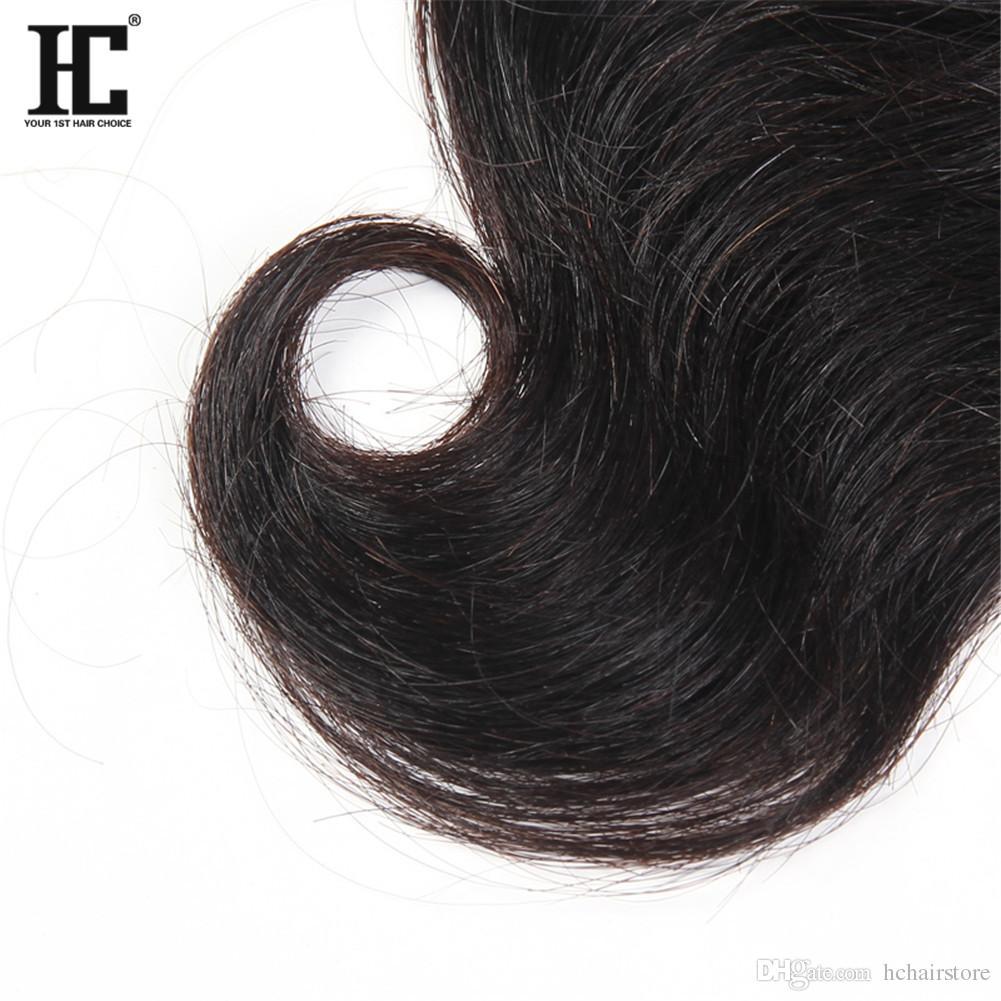 HC Saç Brezilyalı Bakire Saç Kapatma Ile 3 Demetleri Brezilyalı Perulu Malezya Hint İnsan Saç Dokuma Vücut Dalga Dantel Kapatma Ile