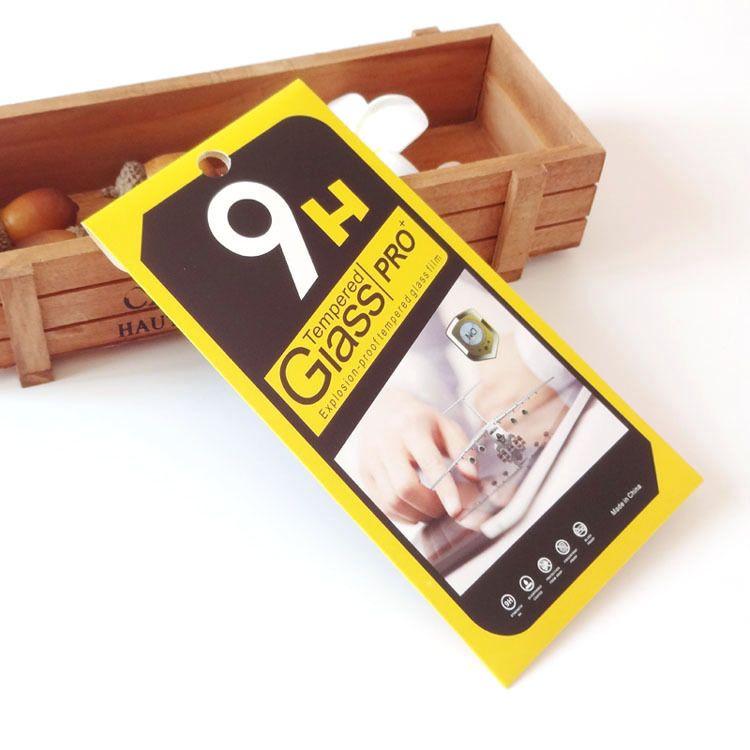 Leere Kleinpaket-Papier-Großhandelskästen, die für erstklassigen Schirm-Schutz des ausgeglichenen Glas-9H verpacken Sony iphone Samsung