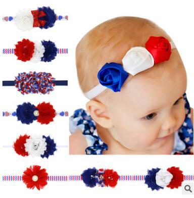 American Flag Headband 4th Of July Independence Day Sequins Pearl Flower  Headband For Baby Girl American Flag Hair Accessories Hair Accessories  Boutique ... 12cb08133c26