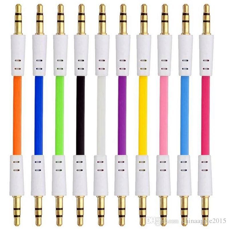 1m Düz Erişte Aux Kablo 3.5mm Ses Yardımcı Kablolar Erkek Erkek Kasa Araç Ses Stereo Kablosu Tel Iphone Ipod mp3 mp
