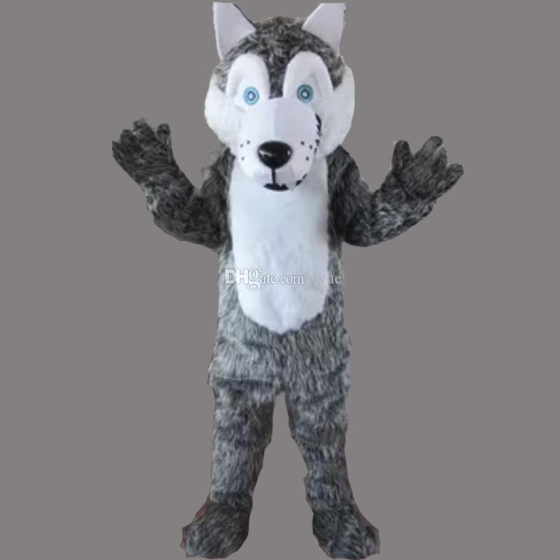 Gray Wolf Adult Size Mascot Dog Costume Fancy Birthday Party Dress Halloween Carnivals Costumes With High Quality Mlp Mascot Costume Spartan Mascot Costumes ... & Gray Wolf Adult Size Mascot Dog Costume Fancy Birthday Party Dress ...