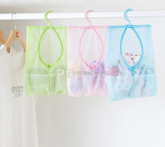 Home & Garden Housekeeping Multi-function Space Saving Hanging Mesh Bags Clothes Organizer for Bedroom