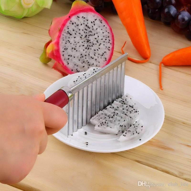 French Fry Cutters Potato Dough Waves Crinkle Cutter Slicer Potato Cutter Slicer Kitchen Vegetable Carrot Chip Blade