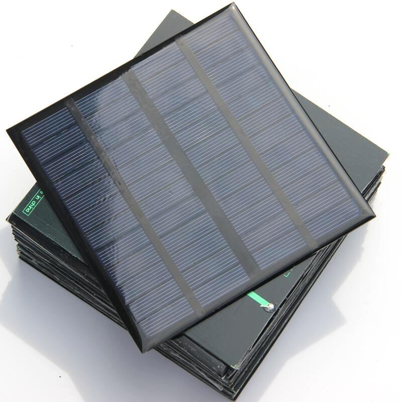 Epoxy Polycrystalline 3W 12V Mini Solar Cell DIY Solar Panel Power Battery Charger System Study 145*145*3MM