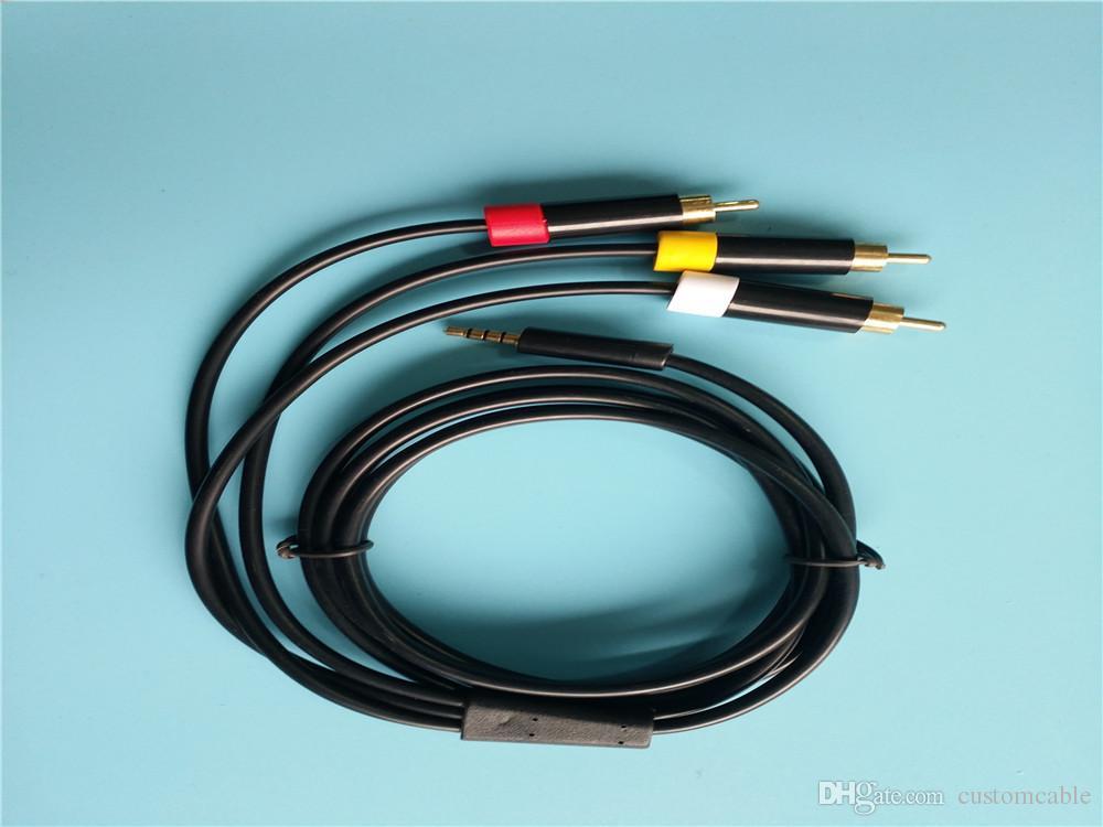 1.8m/6ft Composite Av Rca Cable For Xbox 360 E X Box E Av Cable Data ...