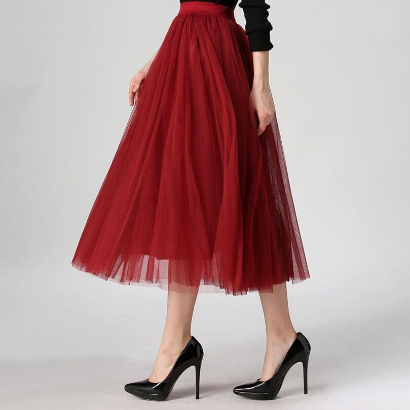 e8fb5b6c0 2017 primavera faldas estilo coreano de moda 8 m gran oscilación maxi  faldas womens verano jupe alta cintura tutú adulto larga falda de tul