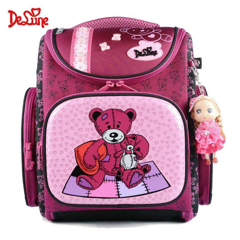 c702b054f0 Delune Kids School Backpack Bear Cat Butterfly 3D Printing Desgine Winx EVA  Orthopedic Children School Bag Girls With Ragdoll Ladies Bags Mens  Messenger ...