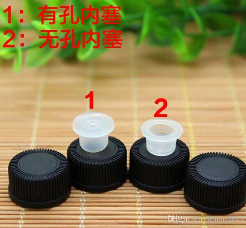 Factory Price 1ML bottles Empty Mini Amber Glass Vials 1/4 Dram Small Bottle with Orifice Reducer & Black Cap For Essential Oils