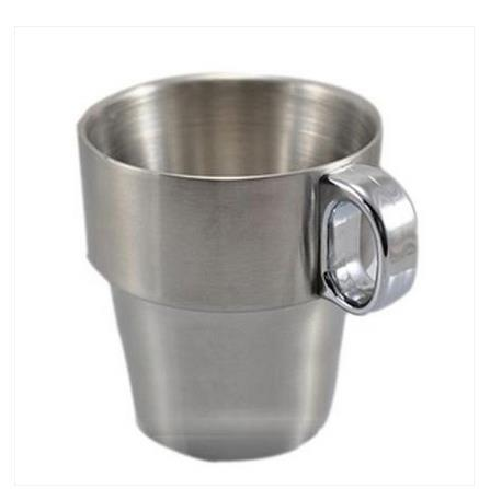 Wholesale- Kitchen Drinkware 300 ml double layer stainless steel gargle cup mug mugs 2pcs/lot free shipping