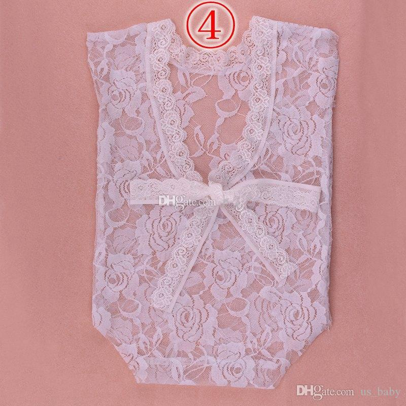 Newborn photography prop lace Rompers Infant full Girls Boys petti Jumpsuits Toddler Clothing Soft Lace Bodysuits 0-3M