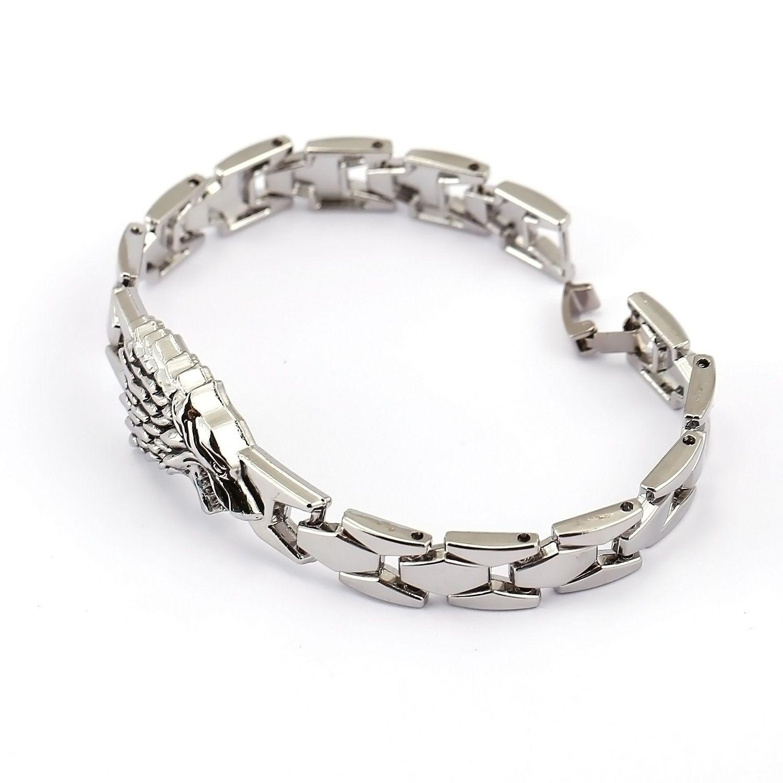 New Movie Jewelry Game of Thrones Bracelet Metal Alloy Bracelet For Men Fashion Charm Bracelet