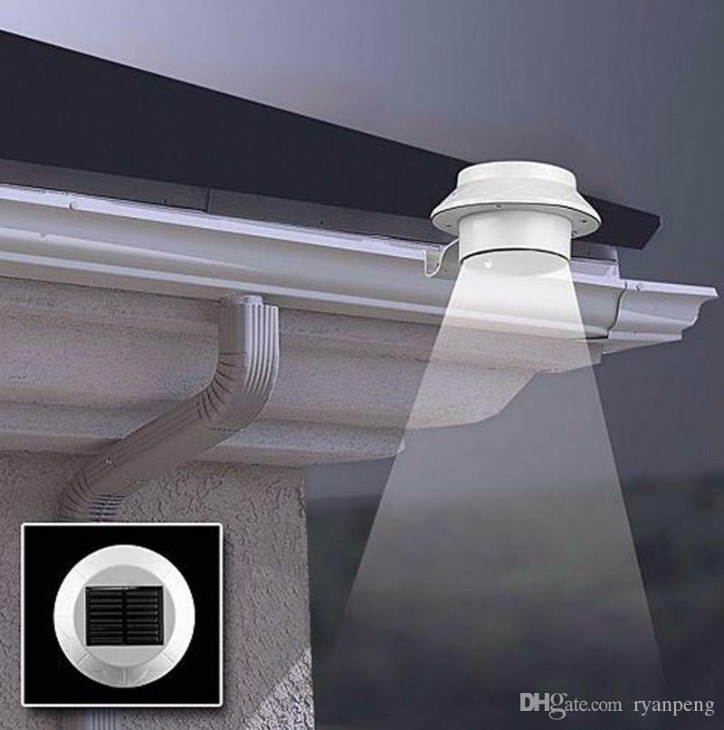 Moderne Led Aussenbeleuchtung Powered Outdoor Veranda Hof Aussenwandleuchten Gutter Zaun Hinterhof Weiss Warm White Led Solarleuchten