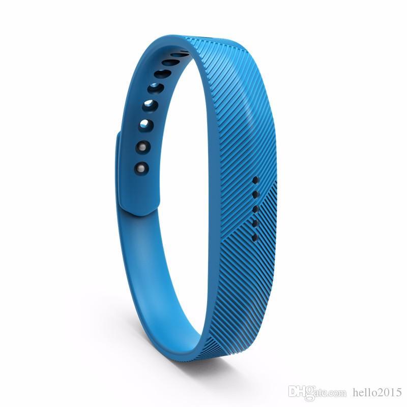 Bande en caoutchouc de remplacement en silicone pour Fitbit Flex 2 Bracelet Dragonne Haute Qualité Livraison Gratuite