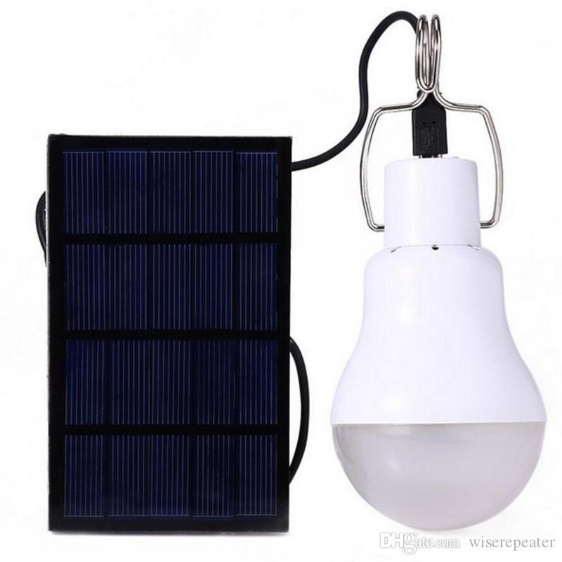 High Capacity Wiederaufladbare tragbare Solar LED-Lampe Solar-Panel im Freien kampierende Lampe USB-Lade 3800mAh Großhandel Einzelhandel Geschenkkarton