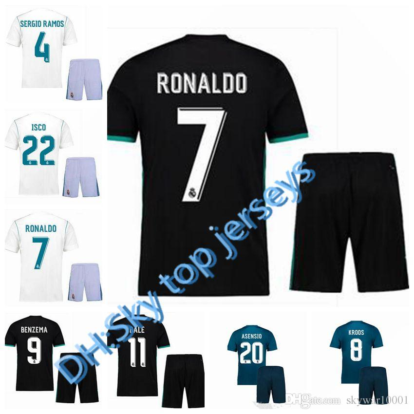 low priced 7b697 89852 best quality 17 18 Real Madrid kits adult soccer jerseys Uniforms sets  adult kits 2017 2018 RONALDO JAMES BALE ISCO football shirts