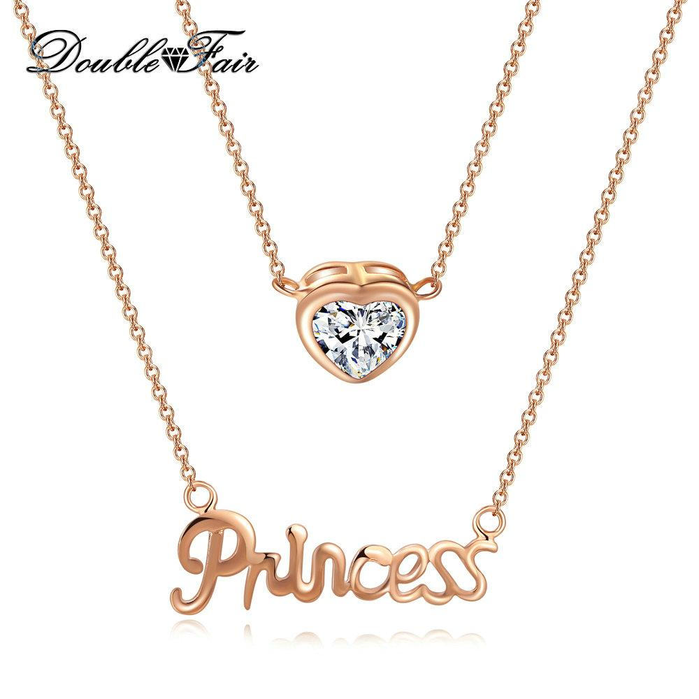 Wholesale new princess and heart rose gold plated pendants necklace wholesale new princess and heart rose gold plated pendants necklace imitation crystal wholesale jewelry for women party dfn456 necklace pendants garnet aloadofball Image collections